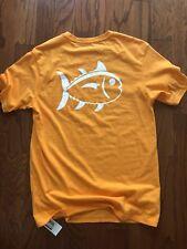 NWT Southern Tide Orange T Shirt Skipjack Logo Short Sleeve Men's (S)