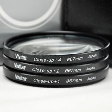 Vivitar 67mm Close up Lens Kit 1 2 4