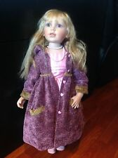 """28"""" Porcelain Blond Beautiful Doll   """" My Child Face"""" Style"""