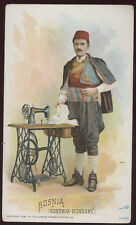 BOSNIA 1892 SINGER SEWING MACHINE ADV TRADE CARD GREAT CONDITION TC303