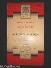 Vintage Ordnance Survey Map of Saffron Walden - 1960, Dunmow, Bishop's Stortford