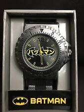 DC Comics Batman Large Face Bullet Band Analog Watch New/VHTF