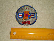 Rhode Island Civil Air Patrol Embroidered Patch RI 16 Wing USAF Auxillary