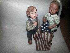 Sarah'S Attic 1993 Boy Girl Pledge of Allegiance Numbered 1104