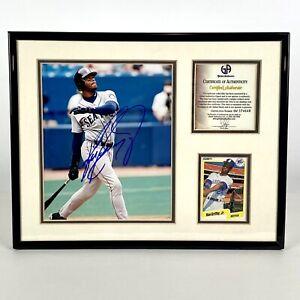 Ken Griffey Jr Signed Autographed 8x10 Photo COA Fleer '90 Card MLB Baseball HOF