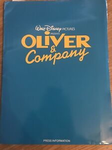Walt Disney's OLIVER & COMPANY (1988) UK Cinema Press Stills Production Notes