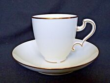 SEVRES manufacture - Tasse et sous tasse en porcelaine blanche et or 1878-1883