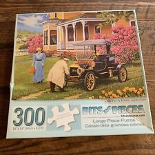 """300 Pc John Sloane Art Puzzle """"Out For A Drive"""" Large Format Jigsaw Ford Country"""