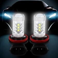 2Pc 80W Car LED Cree H11 Fog Tail Driving Head Light Lamp Bulb Super White 6000K