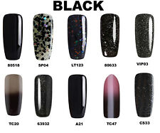 Bluesky Gel Polish Black, Black Glitter Popular Nail UV LED Soak Off, Any 2=File