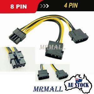 Dual Molex 4 Pin to 8 Pin PCI-E Express Video Card Power Cable Adaptor