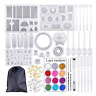 Resin Casting Molds,81 Pcs Mold Tools Kit for Crafts Silicone Epoxy Mold for DIY