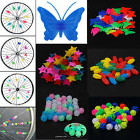 36pc Bicycle Bike Wheel Plastic Spoke Bead Children Kids Clip Colored Decoration