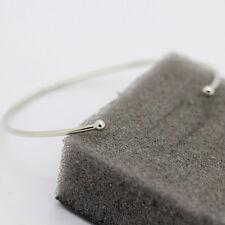 Sliver Open Cuff Bangle Bracelet Copper Wire Bangle Minimal Bracelet Jewelry