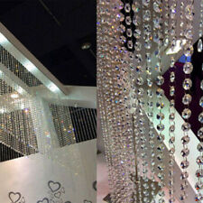 30FT Acrylic Crystal Bead Chandelier Garland Hanging Wedding Curtain Decor