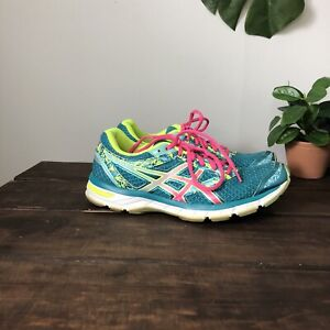 Asics Gel Excite 4 Athletic Sneaker Shoes Turquoise Pink Women's T6E8N Sz 9