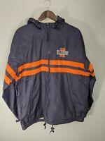 Vintage Storm Duds Size Mens Size M.  University of Illinios Windbreaker Jacket!