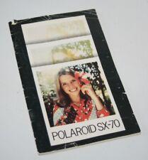 Polaroid SX-70 - Vintage Instant Camera Instruction Manual - 1976
