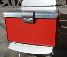 1950's Thermaster Orange Picnic Cooler By Poloron Products New York VGC