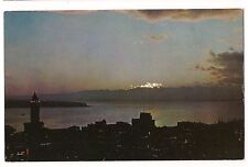 PUGET SOUND At TWILIGHT Sunset Night Scene Seattle WASHINGTON Postcard WA