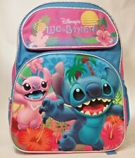 "Disney Lilo And Stitch 3D DELUXE Embossed 16"" Large School Backpack Pack NWT NEW"