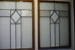Antike Jugendstil Bleiverglasung Fenster