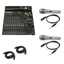 Peavey PV14 AT Pro Audio DJ Auto Tune 14 Channel Mixer Headphones & Microphone