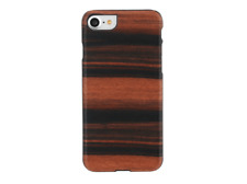"Funda - Man&Wood Ebony/BL, Para iPhone 7, 4.7"" Protectora Negro, Madera, Marrón"