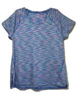 Womens Tek Gear Dry Tech V-Neck Short Sleeve Activewear Athletic Shirt Top Sz XL