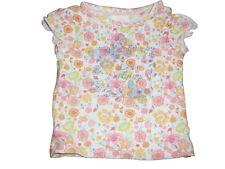 C & A tolles T-Shirt Gr. 74 weiß-rosa-gelb mit Schmetterlings Motiv !!