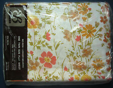 Twin Flat Sheet - Vintage - Field Flower - design Pattern - by Bibb New in Pkg!