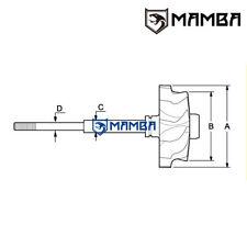 MAMBA 9 blade KKK K16 High Flow turbine wheel Vauxhall Calibra C20LET (46.1/55)