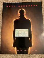 Ozzy Osbourne Retirement Sucks Tour Program & Ticket From Los Angeles Forum 1997