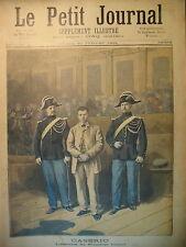 CASERIO ASSASSIN PDT CARNOT AFFICHES PLM GENEVE ALGERIE LE PETIT JOURNAL 1894