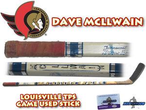 DAVE MCLLWAIN Game Used Stick OTTAWA SENATORS - w/COA HOLOGRAM