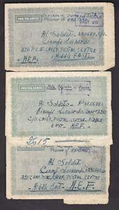Italy WW2 correspondence x3 to Leonardo Ciampi POW camp 321 Middle East 1944