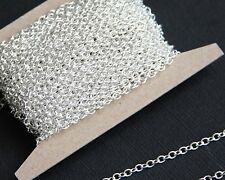 5ft of small cable chain round cable chain 2x3mm available in 6 colors