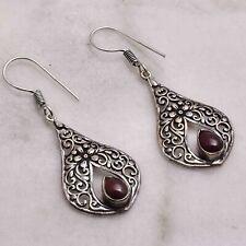 """Carnelian  Handmade Drop Dangle Earrings Jewelry 1.84"""" AE 55245"""