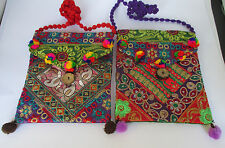 Small cross body bag, shoulder bag, Boho Indian Embroidered Bright colours Hippy