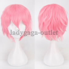 Cool Short Hair Wigs Mens Male Boys Fluffy Straight Full Synthetic Wig Anime ag3
