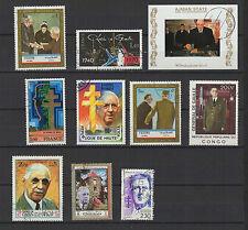 CHARLES DE GAULLE 10 timbres anciens oblitérés /B262