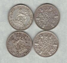 More details for four 1925/1926/1931 & 1935 sixpences in very fine condition