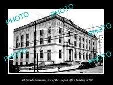 OLD LARGE HISTORIC PHOTO OF EL DORADO ARKANSAS THE US POST OFFICE BUILDING c1930