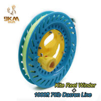 "8.7"" Lockable Kite Reel Winder With 1000ft 70lb Dacron String for Delta Kite Fly"