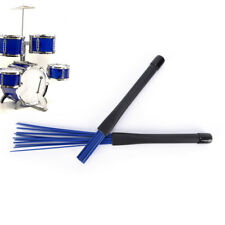 1X Nylon Jazz Drum Brushes Retractable Drum Sticks blue Musical instrument