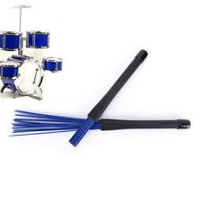 1pc Nylon Jazz Drum Brushes Retractable Drum Sticks blue Musical instrument Ax