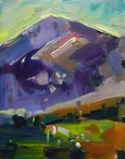 JOSE TRUJILLO - OIL PAINTING MODERN Mountain Impressionist COLLECTIBLE BLUE