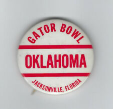 1965 Oklahoma Sooners Gator Bowl pin button NCAA football rare