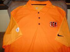 22a57aa6 NFL Cincinnati Bengals Nike Dri Fit Team Issue Orange Polo Golf Shirt Men's  2xl