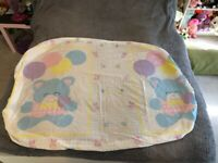 Vintage Pastel Cat With Balloons Crib Size Flat And Fitted Sheet Fairy Kei Kawai